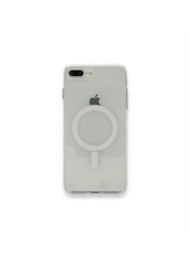 Apple iPhone 8 PLUS için MagSafe özellikli Şeffaf Kılıf Renksiz